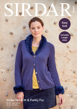 Cardigan in Sirdar No.1 and Funky Fur - 8245 - Downloadable PDF