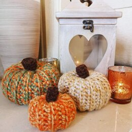 Rustic Fall Pumpkins - Crochet