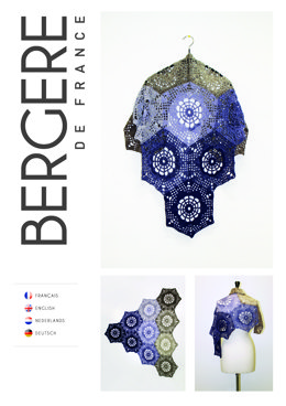 Crochet Shawl in Bergere de France Unic - Downloadable PDF