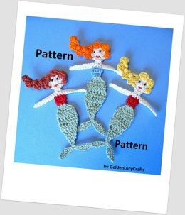 Mermaid Applique Crochet Pattern
