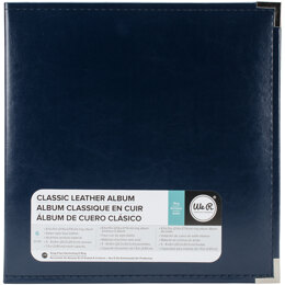 """We R Memory Keepers We R Classic Leather D-Ring Album 8.5""""X11"""" - Navy"""