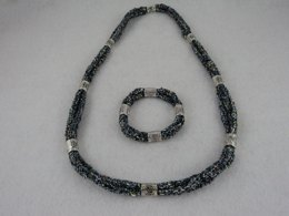 Tri Cord Necklace and Bracelet