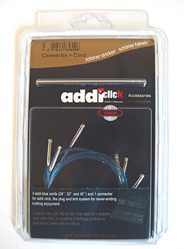 Addi Click Turbo Cord Multi Pack in 60, 80, and 100 cm (24, 32, and 40 inches) (Set of 3)