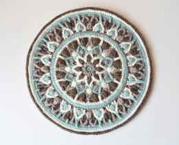 Mint Coffee Mandala Pot holder
