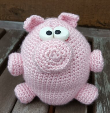 No Left Overs Amigurumi Flying Pig