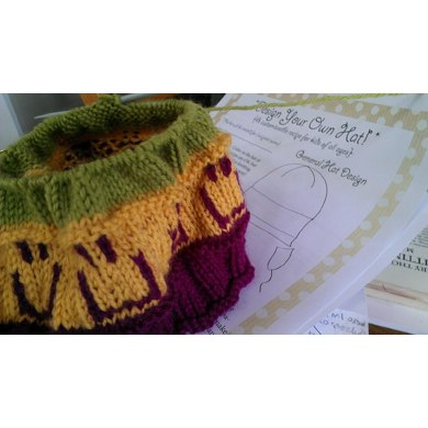 Knitting Squares Patterns : Design Your Own Hat Recipe Knitting pattern by Kirsti Johanson Knitting Pat...