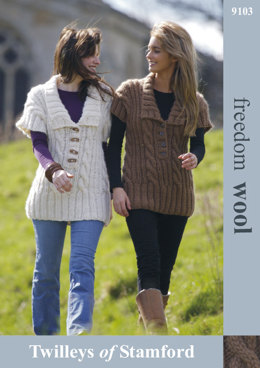 Cabled Tunic in Twilleys Freedom Wool - 9103