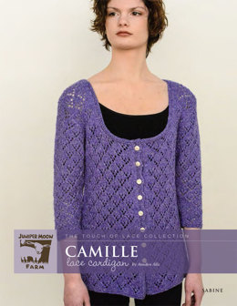 Camille Lace Cardigan in Juniper Moon Farm Sabine