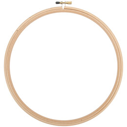 Frank A. Edmunds Wood Embroidery Hoop W/Round Edges 10in