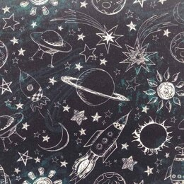 Craft Cotton Company Outer Space - Sun