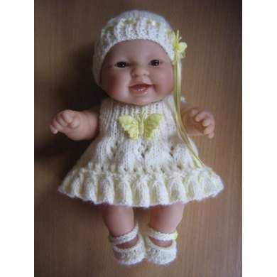 "8"" Berenguer Doll Frill Hem Dress"
