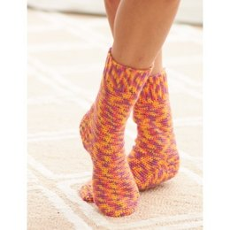 Basic Socks in Bernat Sox - Downloadable PDF