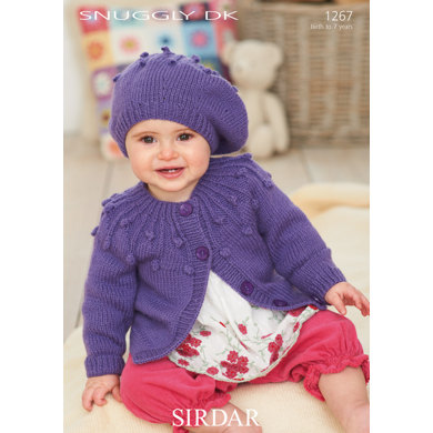 Hat and Cardigan in Sirdar Snuggly Smiley Stripes DK - 1267
