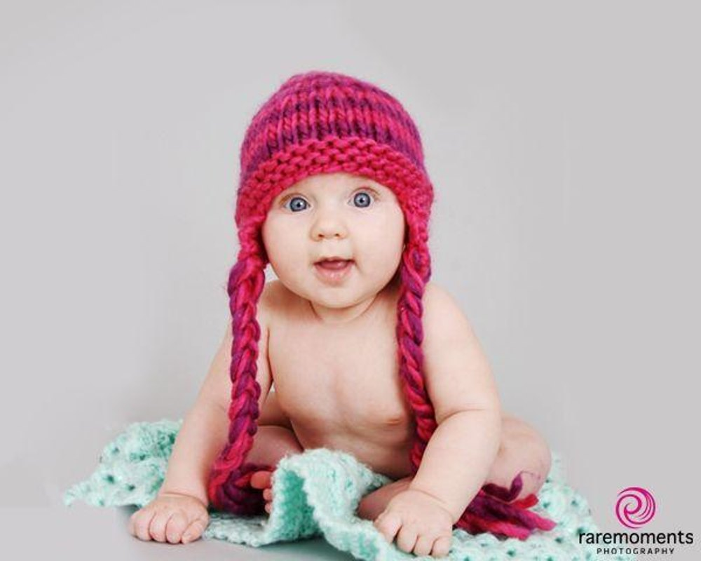 Softie Hat with Plaits Knitting pattern by Big Crocodile | Knitting ...