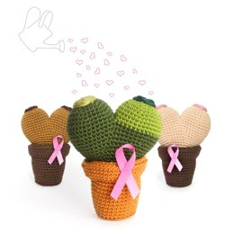 Booby Cactus - Octobre Rose (Pink October) Amigurumi