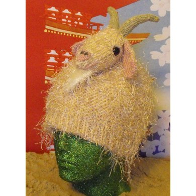 Nancy Nanny Goat Beanie Hat Knitting Pattern