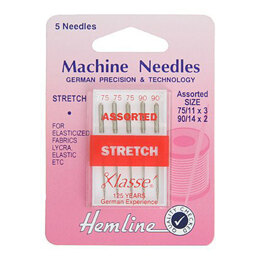 Hemline Machine Needles: Stretch - Mix