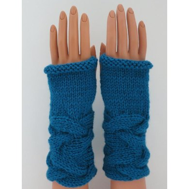 Camille's French Braid Fingerless Mittens